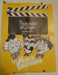 Monkey Business Marx Brothers French Poster 23 1/2 By 31 1/2 70's Rerelease