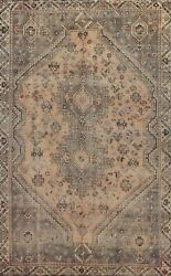 Antique Geometric Traditional Oriental Area Rug Hand-knotted Wool 7x10 Ft Carpet