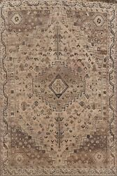 Antique Geometric Traditional Oriental Area Rug Wool Hand-knotted Carpet 5x7 Ft