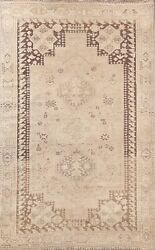 Geometric Antique Traditional Oriental Area Rug Wool Hand-knotted Carpet 5x8 Ft