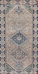 Antique Geometric Traditional Oriental Area Rug Wool Hand-knotted 5x10 Ft Carpet