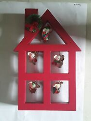 Avon A Merry Little Christmas Display Stand And 5 Mouse/ Mice Ornaments