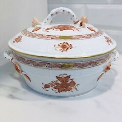 Herend Chinese Bouquet Formerly Apponyi Rust Covered Vegetable Dish