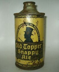 Old Topper Snappy Ale J-spout Cone Top Beer Can Rochester, New York Irtp