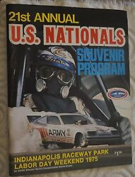 Rare 1975 21st Annual Us Nationals Program Indianapolis Raceway Park Snake Cover