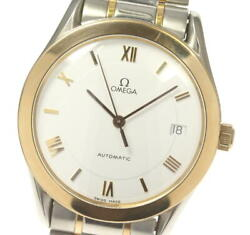 Omega Pg Bezel Round Self-winding White Dial Menand039s Watch Pre Owned [u0530]