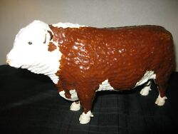 Shebeg Isle Of Man Studio Pottery  Hereford Bull Signed D Thomson