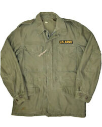 Vintage Us Army Field Jacket Shell Mens S M1951 Green Full Zip Military
