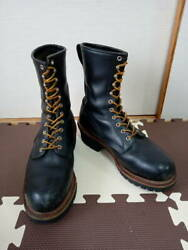 Used Red Wing Shoes Logger Boots Lace-up Boots Black Color Size 28cm Rare