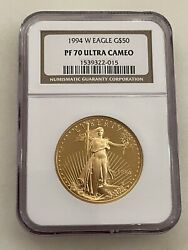 1994-w 50 American Gold Eagle Ngc Pf70 Ucam One Ounce