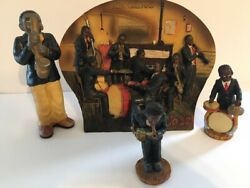 Vtg Three D New Orleans Jazz Collectible Plate With 3 Figurines