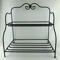 Longaberger Wrought Iron Small Bakers Rack 2 Tier Maple Leaf