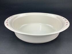 Longaberger Woven Traditions Traditional Red 3 Qt Oval Casserole Dish No Lid