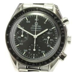 Omega Speedmaster Chronograph 3510.50 Automatic Menand039s Black Dial Ss [e031]