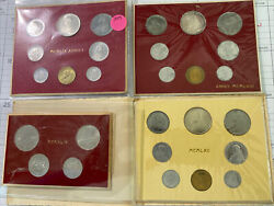 Vatican Coins Sets 1958, 1959, 1962 Conclio With Silver + 1949