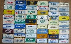 1986 And 1988 Wheaties / Post Cereal Miniature Mini Bike State License Plate