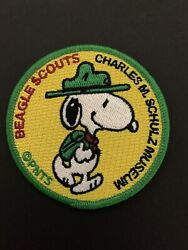 Charles M Schulz Museum Peanuts Snoopy Beagle Scout Patch