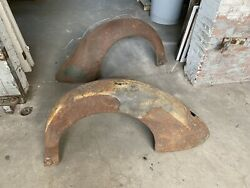 1936 Ford Coupe Roadster Cabriolet Rear Fenders Original Steel 1935