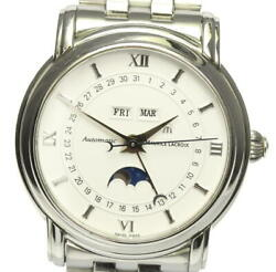 Maurice Lacroix Triple Calendar Moon Phase Automatic Stainless Menand039s Watch U0531