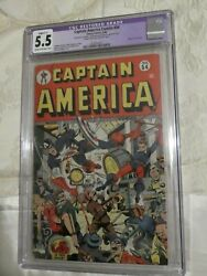 Timely Marvel Comics Golden Age Captain America 54 Cgc Restored 5.5.