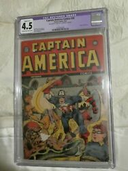 Timely Marvel Comics Golden Age Captain America 30 Cgc Restored 4.5.
