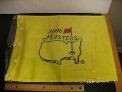 2006 Golf Pga Augusta Masters Embroidered Pin Flag New Phil Mickelson Winner