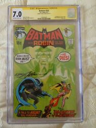 Batman 232 Cgc 7.0 Off- White Pages. 1st Ra's Al Ghul Key Book Signed Neal Adams