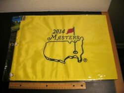 2014 Golf Pga Augusta Masters Embroidered Flag And Pin New Bubba Watson Wins