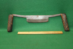 Primitive 6 L And I. J. White Buffalo Antique Timber Framing Drawknife Invcr67