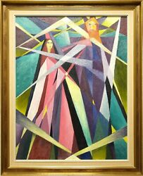 Golda Rose 1921-2016 Large Original Vintage Oil Painting On Canvas, The Magician