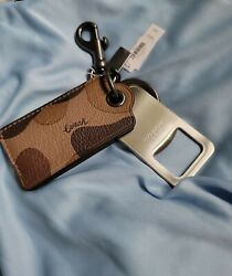 Coach Leather Bottle Opener With Keychain Msrp 68