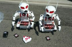 Lot Of 2 Rad 2.0 Large Toy Robot 19 Inch Tall Toymax Remote Battery Used