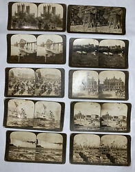 1902 H. C. White Co. Stereograph Pictures Of World Travel Sites, 10 Vintage Card