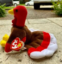Gobbles Original Beanie Baby Multiple Errors On Tags Style 4034 1993 Mint C