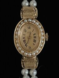 14k Yellow Gold And Pearl Lucien Piccard Watch
