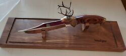 Kershaw North American Wildlife Series Knife White Tail Deer Bowie With Case