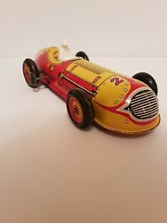 Vintage Marx Tin Litho Wind Up No. 27 Indy Race Car With Driver