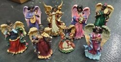 African American Angel Figurines Lot Of 8