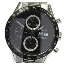 Tag Heuer Carrera Chronograph Cv2010-0 Automatic Stainless Menand039s Watch [b0601]