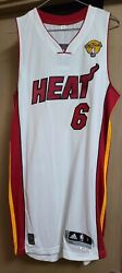 Adidas Nba Lebron James Miami Heat Rev30 Home Authentic Jersey W/ Finals Patch