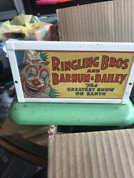 1940and039s American Flyer 577 Whistle Lighted Ringling Bros Circus Sign