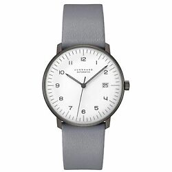 Junghans 027-4007.04 Menand039s Junghans Max Bill White Automatic Watch
