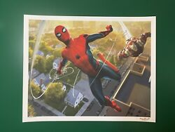 Marvel Spider-man Homecoming Iron Man Concept Poster Giclee Print 20x16 Gma