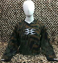 New Extra Large Empire Contact Tt Padded Paintball Jersey - Skinned Camo