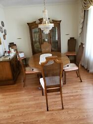 Vintage 9 Piece Wood Dining Room Set From Rich's Dept. Store Atlanta Color Brown