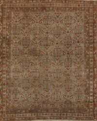 Pre-1900 Antique Floral Traditional Oriental Area Rug Hand-knotted Wool 5x6 Ft