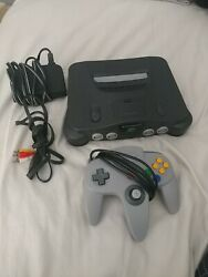 Complete Nintendo 64 Console Tested And Working-authentic-clean- Excellent Cond
