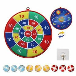 Dart Board Game For Kids With 9 Sticky Balls Double Sided Toy Bluestarry Sky