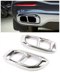 S/steel Rear Exhaust Muffler Tail Pipe Tip Cover For Benz Glc Gle Gles 2020 2021