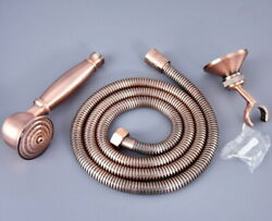 Antique Copper Telephone Hand Held Shower Head Set With 1.5 Hose Brass Holder